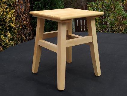 Dřevěná stolička - štokrle z bukového dřeva