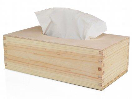 Dřevěná krabička na papírové kapesníky s výsuvným dnem