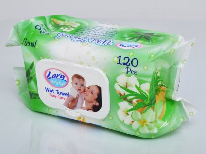 Lara vlhčené ubrousky s Aloe Vera 120 ks