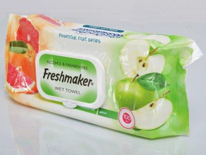 Freshmaker vlhčené ubrousky jablko a grapefruit 100 ks