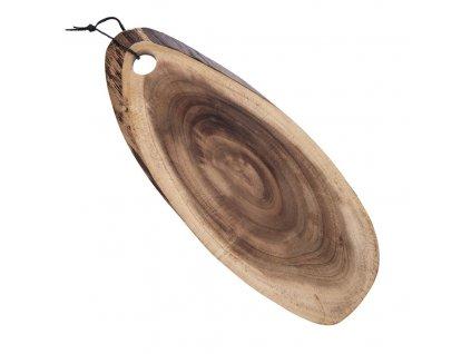 Krájecí prkénko z akácie, délka cca. 44 cm