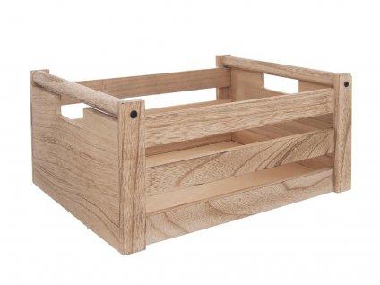 Dřevěná bedýnka 31 x 21 x 14 cm - přírodní