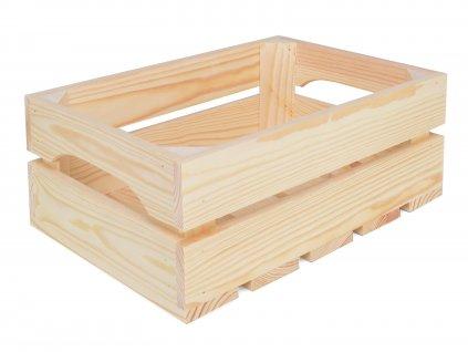 Dřevěná bedýnka 31 x 22 x 12 cm - přírodní