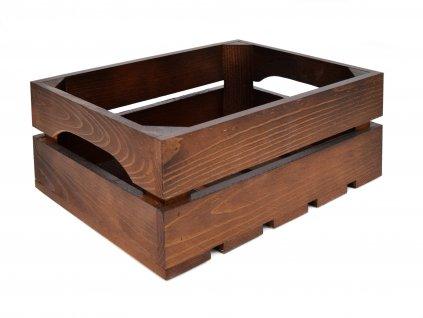 Dřevěná bedýnka 31 x 22 x 12 cm - ořech