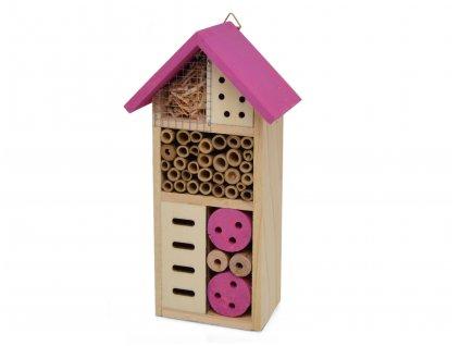 Domeček pro hmyz - hmyzí hotel, purpurová - 26 x 13 cm