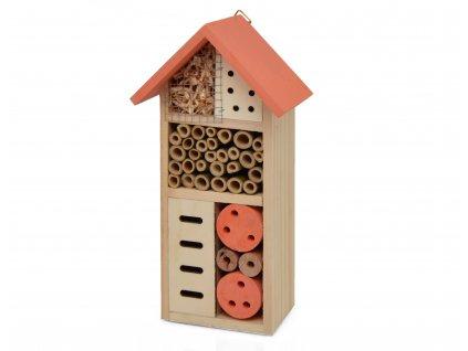 Domeček pro hmyz - hmyzí hotel, oranžová - 26 x 13 cm
