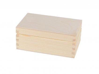 Dřevěná krabička s víkem - 14 x 9 x 6 cm