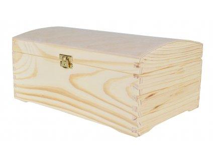Dřevěná truhla na šperky se zapínáním, 20 x 30 cm, přírodní
