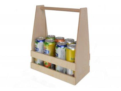 Nosič lahví na 8 piv s rukojetí