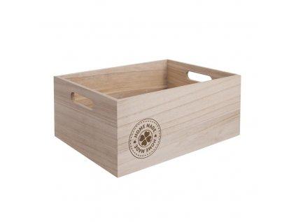 Dřevěná bedýnka HOMEMADE - 26 x 16 x 11 cm