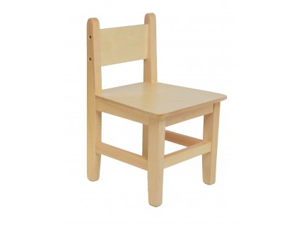 Dřevěná dětská židlička s opěrkou
