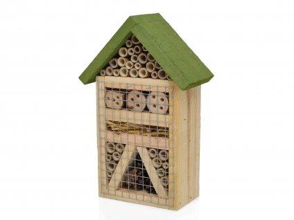 Domeček pro hmyz - hmyzí hotel, zelený - 29 x 19 cm