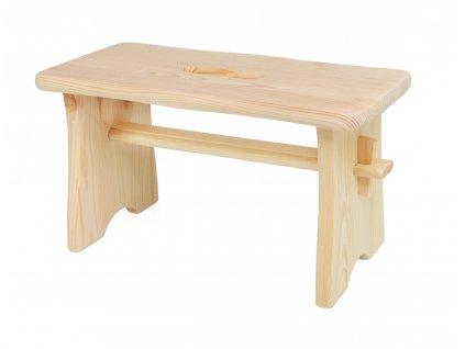 Dřevěná stolička - štokrle přírodní. Židlička je vhodná na decoupage