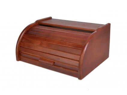 Dřevěný chlebník - chlebovka Laura mini, ořech - 32 x 25 x 16 cm