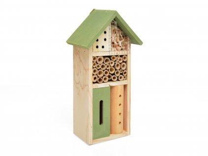 Domeček pro hmyz - hmyzí hotel, zelená - 26 x 14 cm