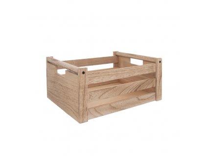 Dřevěná bedýnka 26 x 16 x 12 cm - přírodní