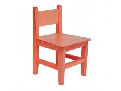 Dřevěná dětská židlička s opěrkou s nátěrem zlatý dub
