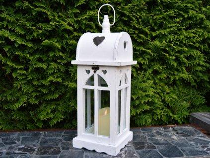 Dřevěná lucerna Ellis - bílá
