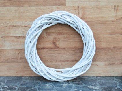 Proutěný věnec bílý - průměr 30 cm