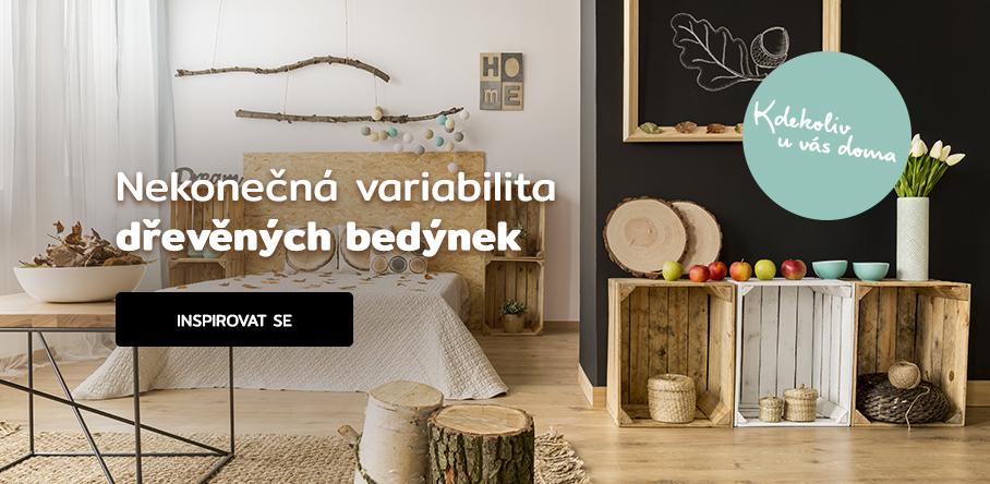 Nekonečná variabilita dřevěných bedýnek