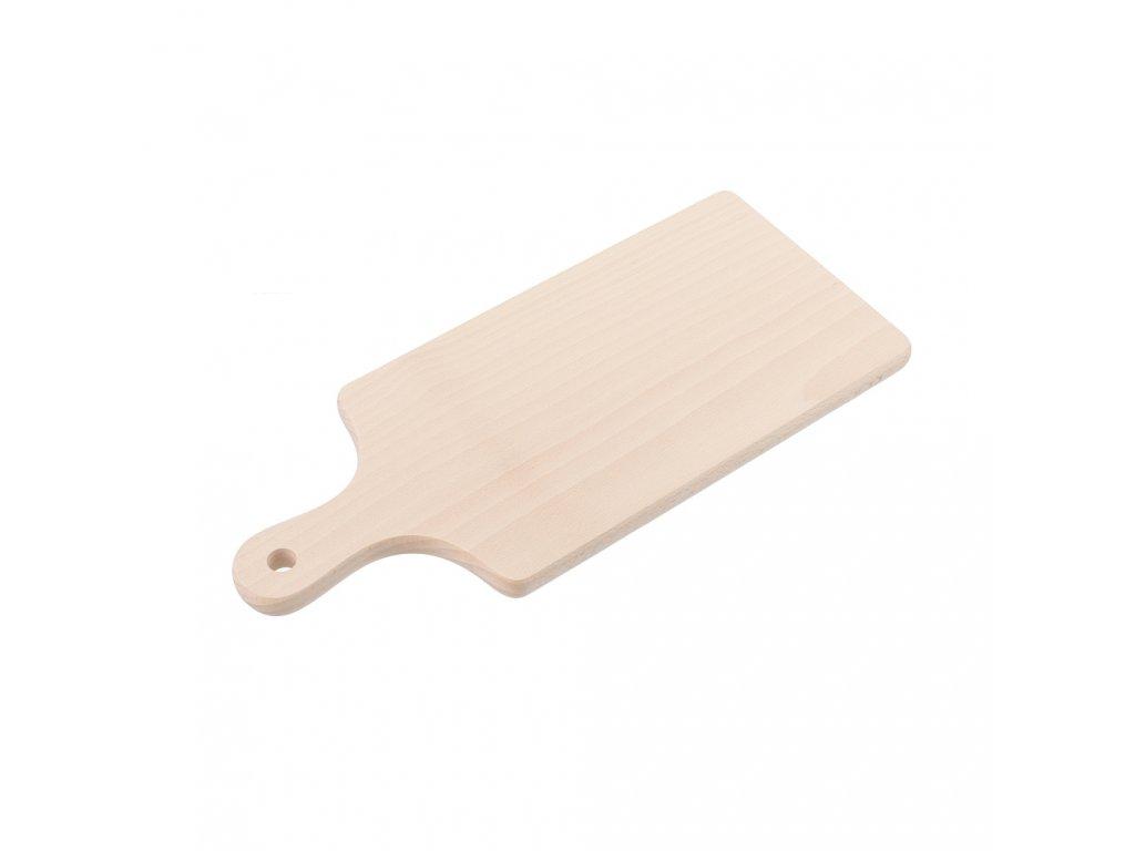 Dřevěná prkénka s rukojetí