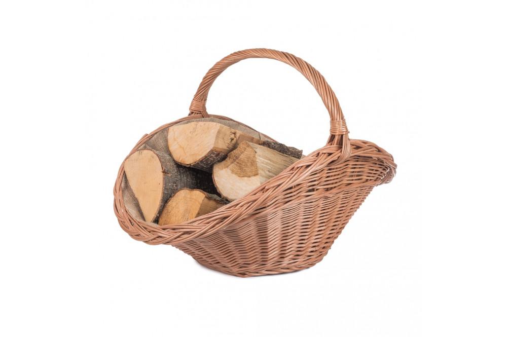 Proutěné koše na dřevo