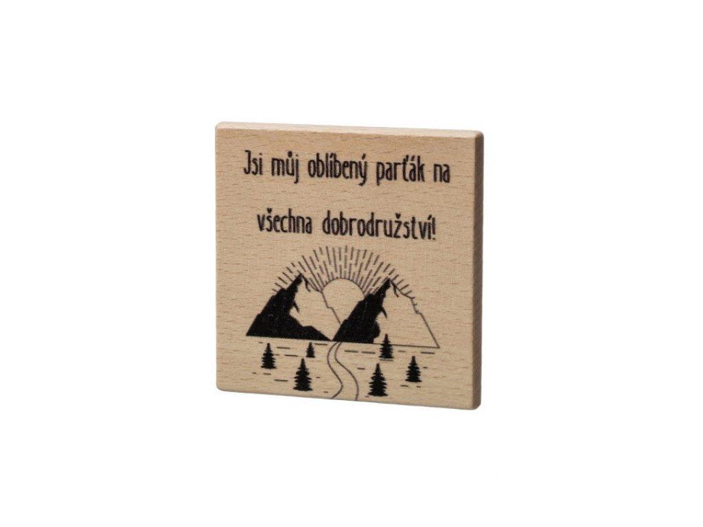 Dřevěný podtácek - Jsi můj oblíbený parťák...