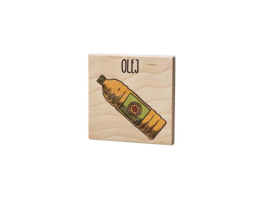 Dřevěný podtácek - Olej