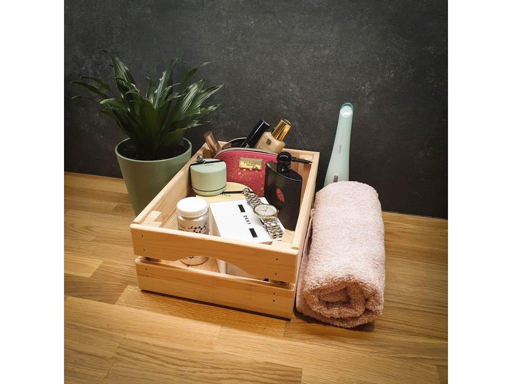 Dřevěná bedýnka 32 x 22 x 11 cm