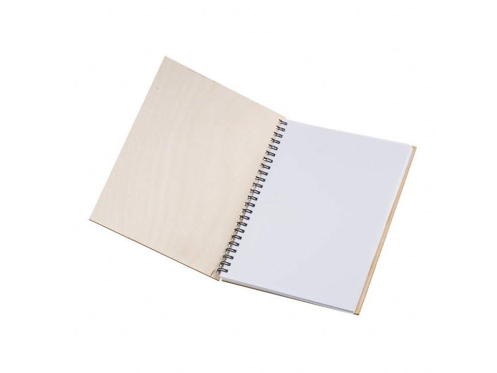 Dřevěný blok A5 - donuts