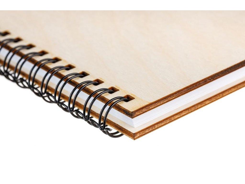 Dřevěný blok A5 - růže
