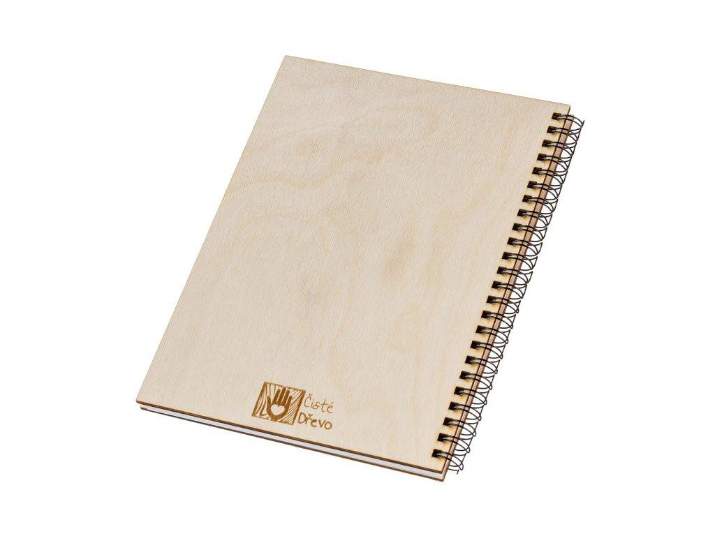 Dřevěný blok A5 - kaktus I