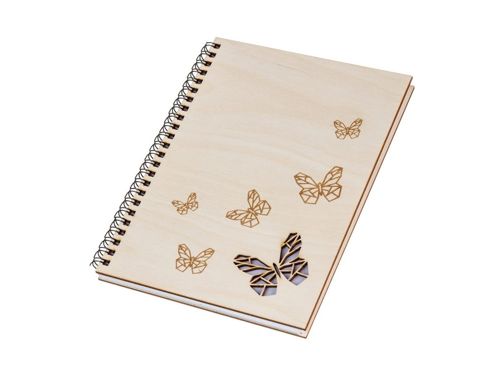 Dřevěný blok A5 - motýli