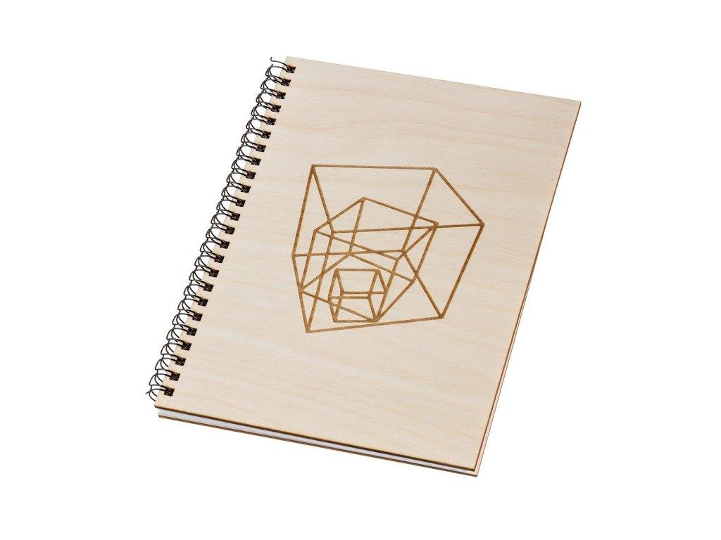Dřevěný blok A5 - geometrie