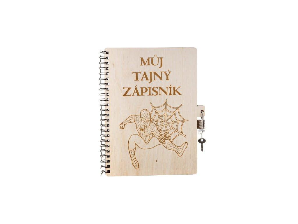 Dřevěný blok A5 se zámkem - Můj tajný zápisník