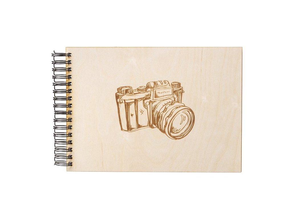 Dřevěné fotoalbum A4 - Fotoaparát