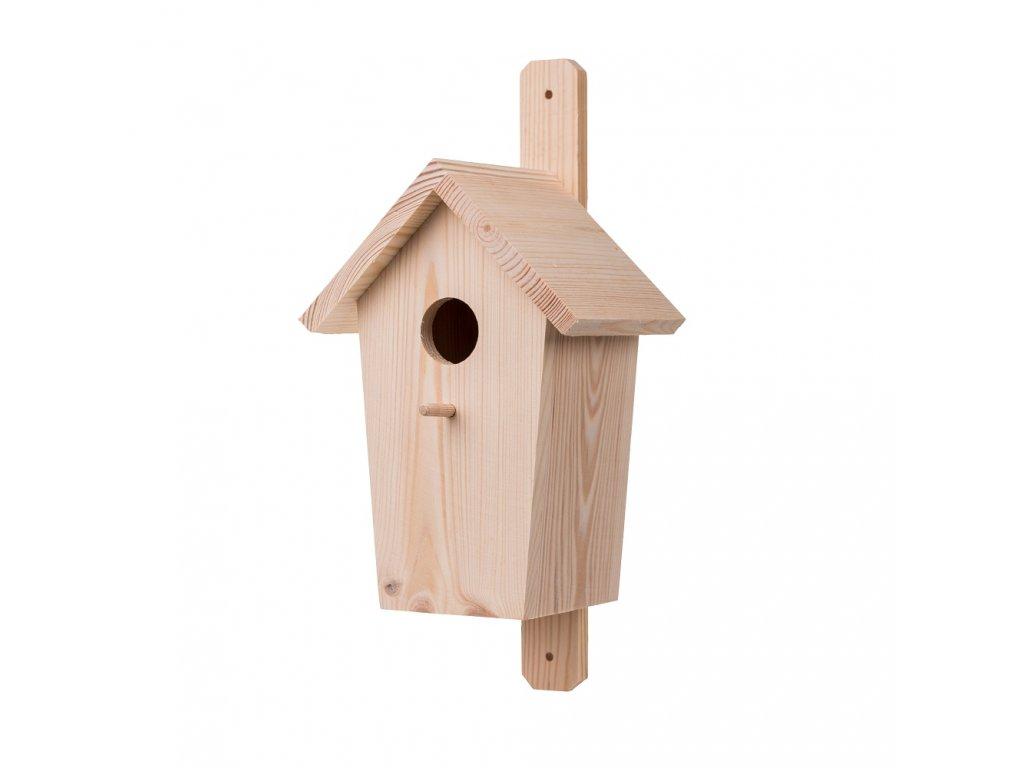 Dřevěná ptačí budka borovice