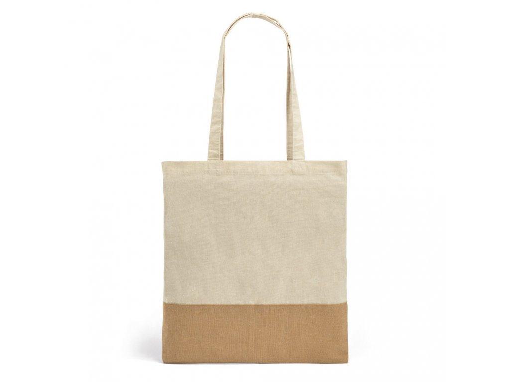Bavlněná nákupní EKO taška z imitace juty