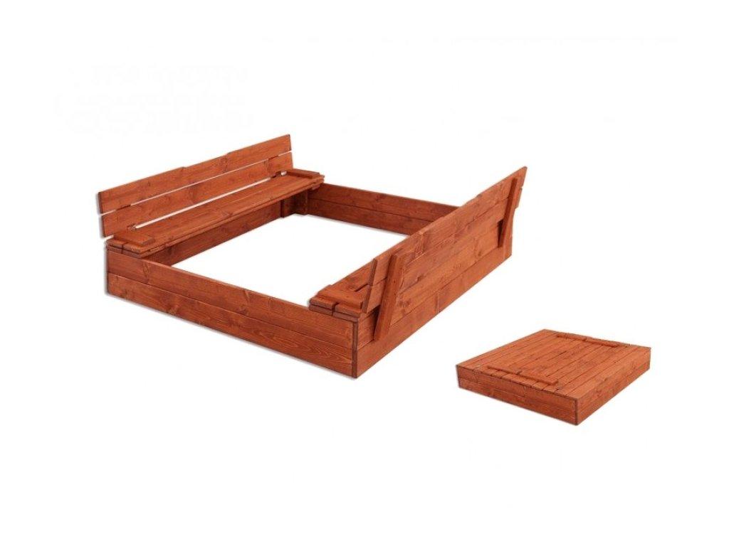 Dřevěné pískoviště komfort