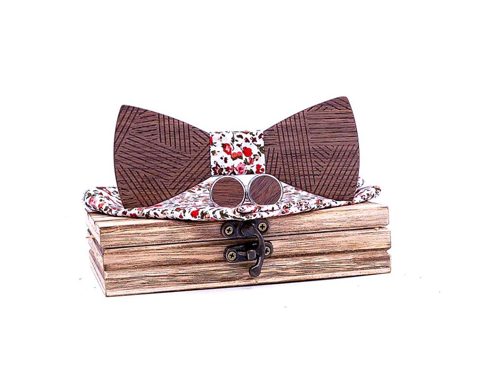 Dřevěný motýlek XIII