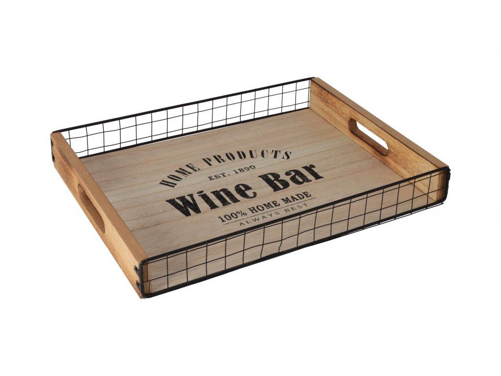 Dřevěný servírovací tác Wine Bar - velký
