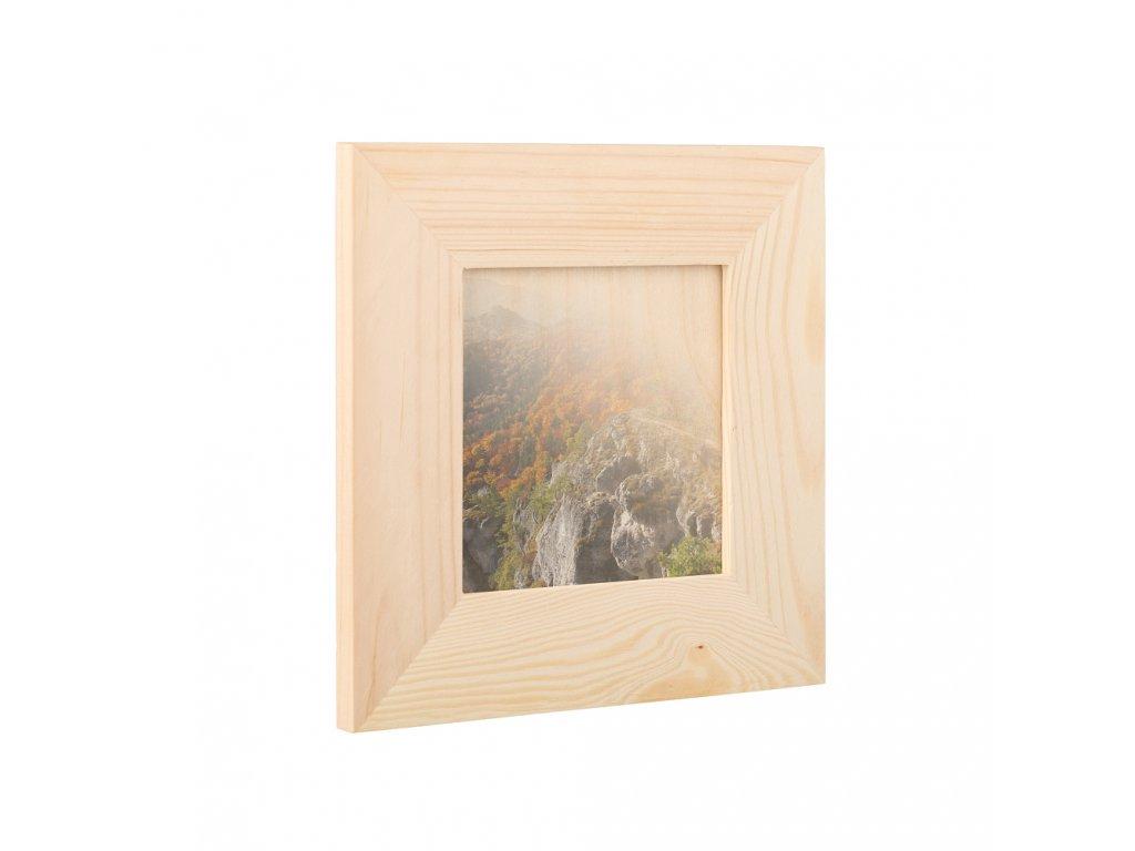 Dřevěný fotorámeček na zeď 18.5 x 18.5 cm