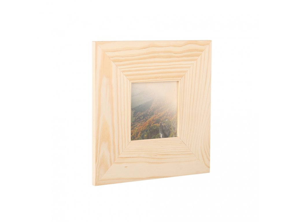 Dřevěný fotorámeček na zeď 23 x 23 cm