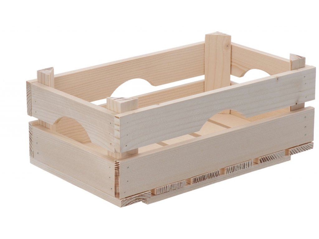 Dřevěná bedýnka 34 x 20 x 14 cm