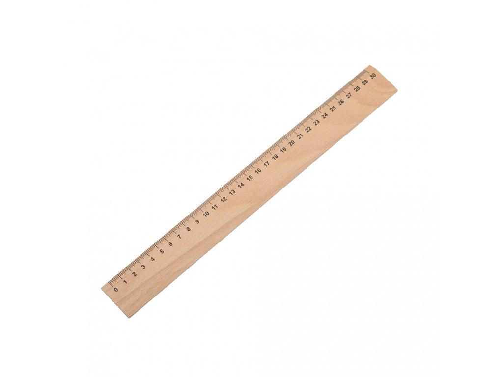 Dřevěné pravítko 30cm