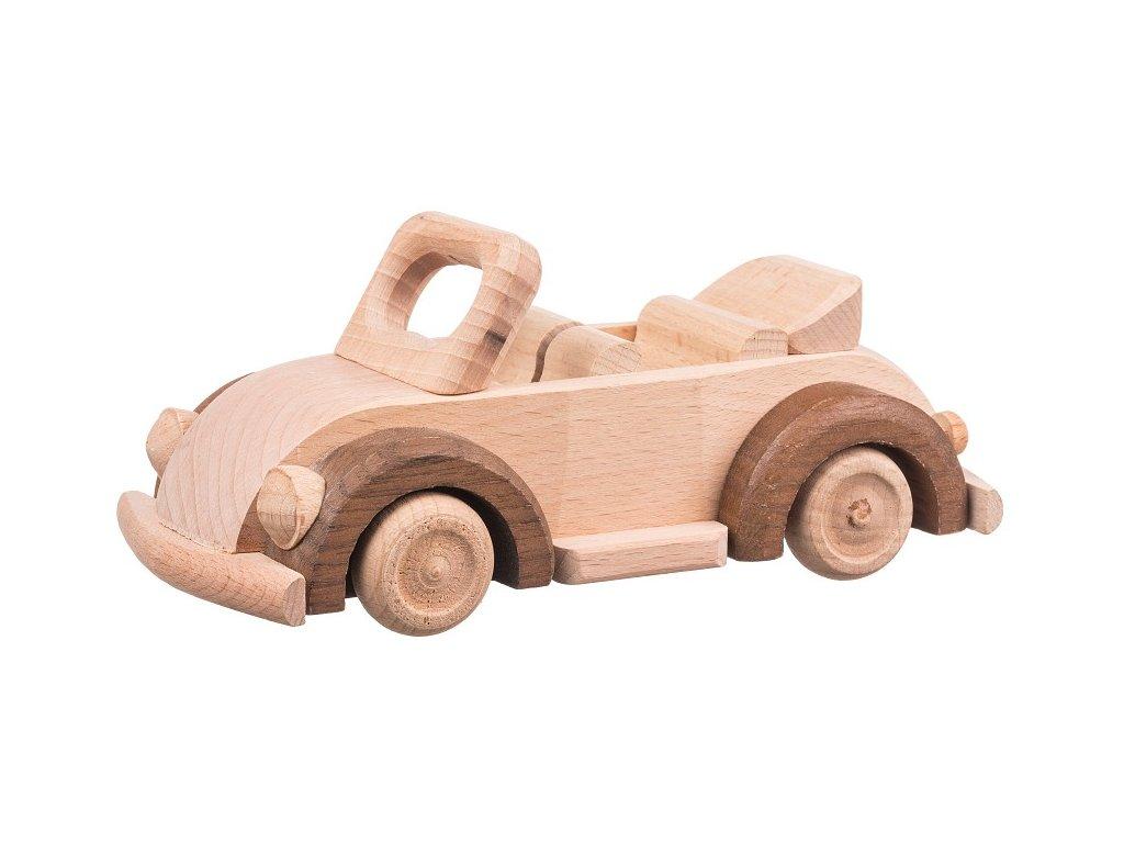 Dřevěné auto beetle kabrio