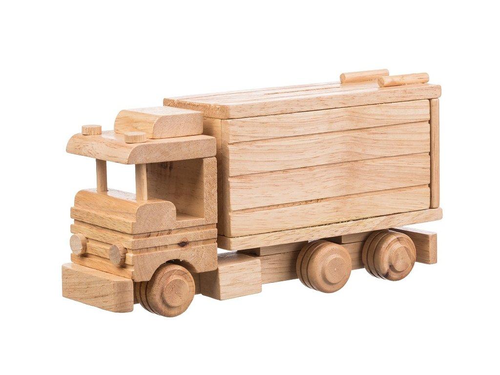 Dřevěný kamion - pokladnička