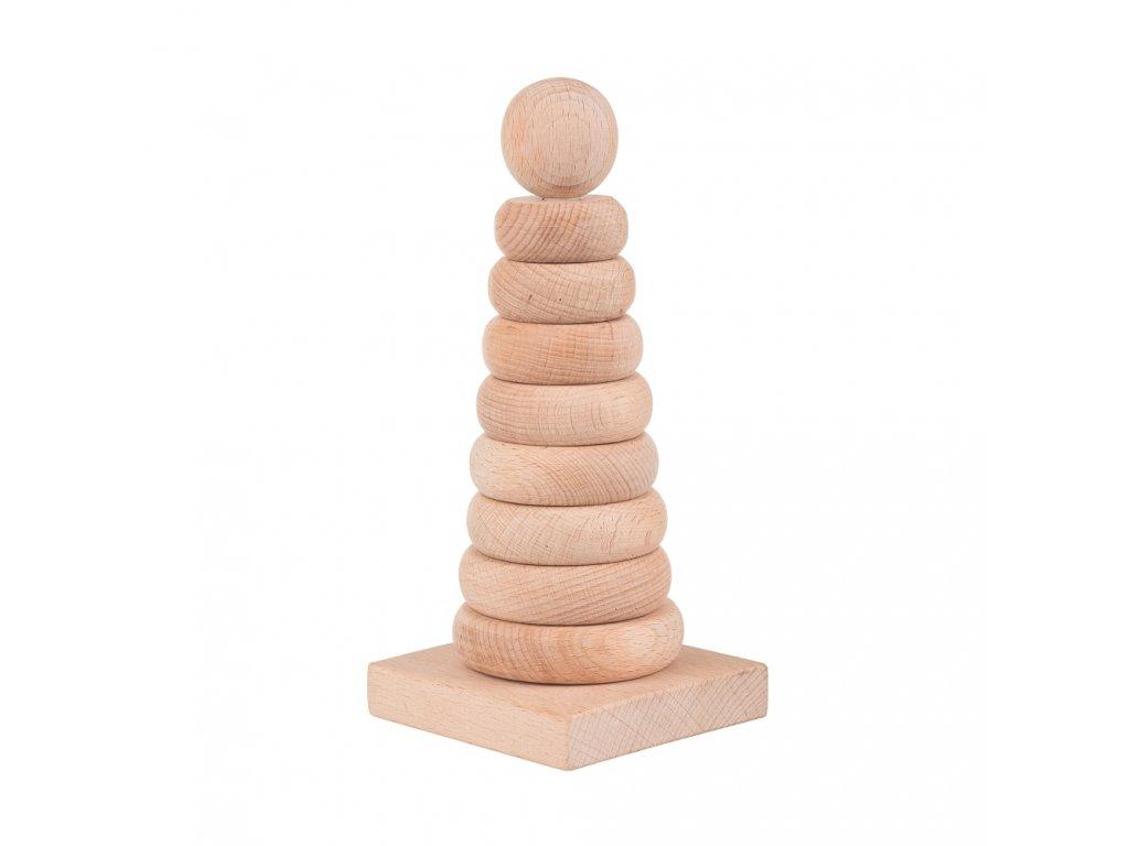 Dřevěná skládací pyramida