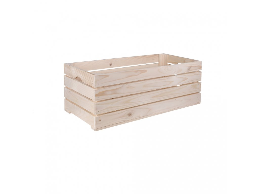 Dřevěná bedýnka 60 x 30 x 24 cm