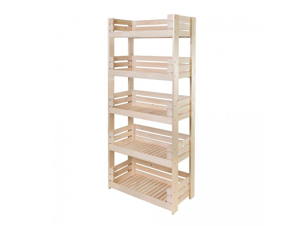 Regál dřevěný r5o 180 x 82 x 39 cm